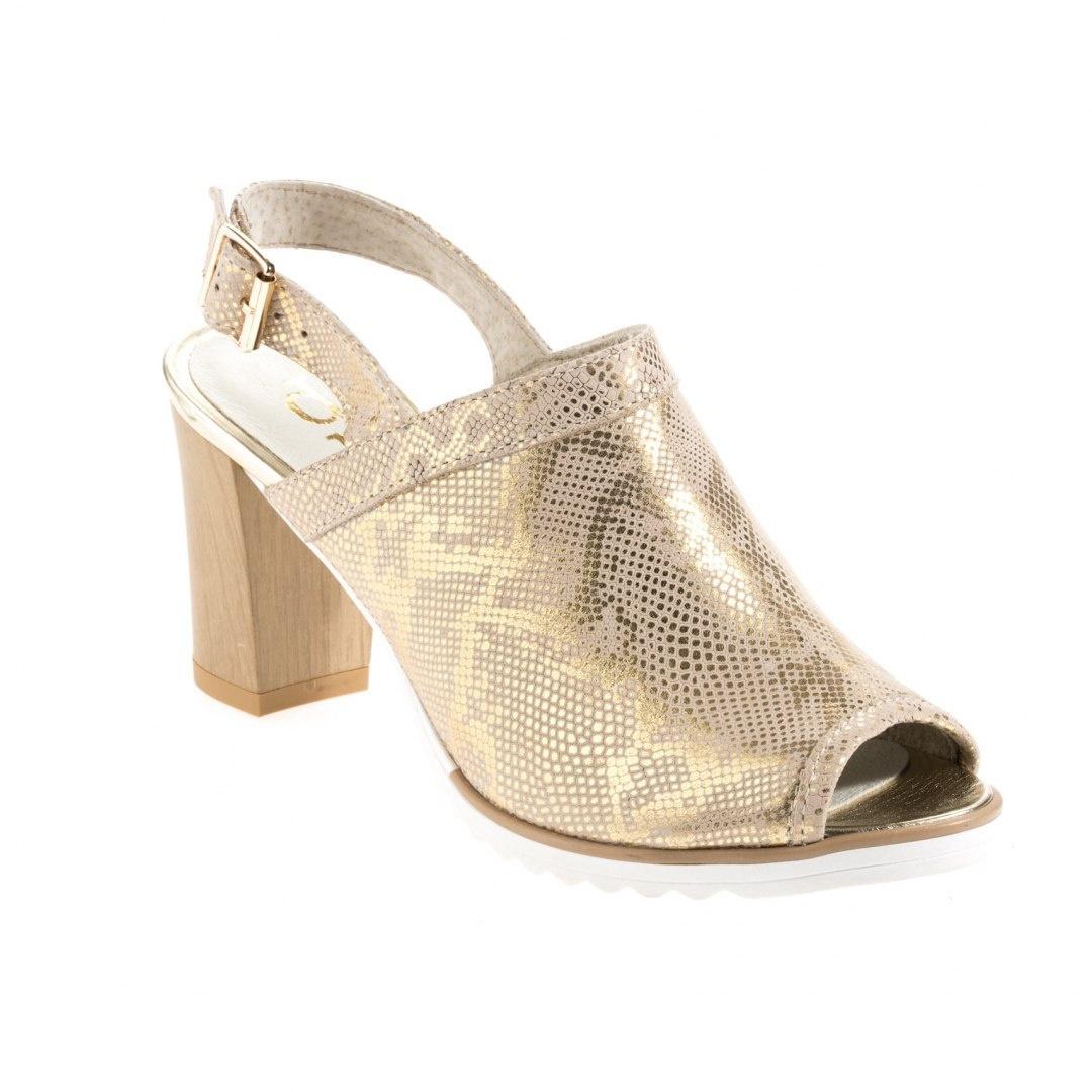 Sandały damskie Dolce Pietro 1022 126 01 1 zorro szaro złote